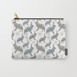 Zentangle rabbit pattern Carry-All Pouch