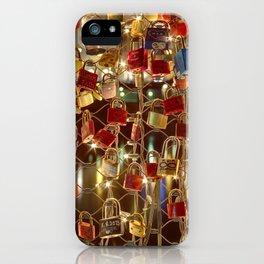 Lovelocks on the Makartsteg in Salzburg iPhone Case
