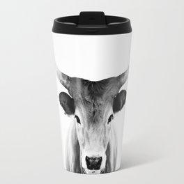 Honey - black and white Travel Mug