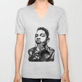Kendrick Lamar Lithograph Unisex V-Neck