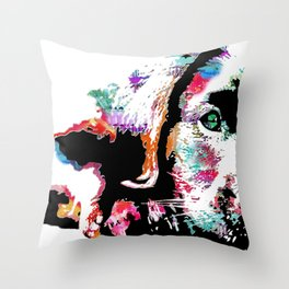riley the lab pup Throw Pillow