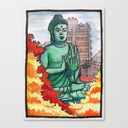 Japan : Toganji Temple Daibutsu Canvas Print
