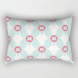 Geometric Butterflies Polka Dots Rectangular Pillow