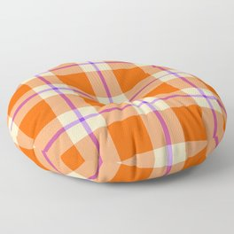 big sunny weave with a dash of purple Floor Pillow