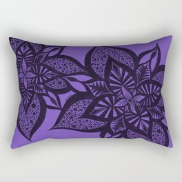 Floral Fantasy in Purple Rectangular Pillow