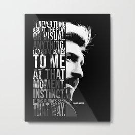 L. MESSI BARCA TEXT ART Metal Print
