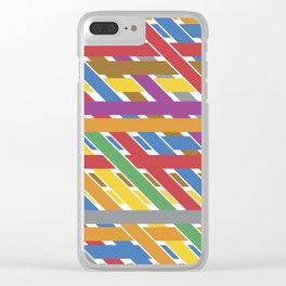 Abstrac Love Clear iPhone Case