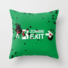 Zombie Exit - Variant Throw Pillow