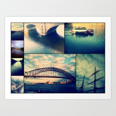 Water Collage Art Print