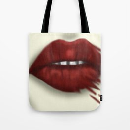 Blood Stains These Lips... Tote Bag
