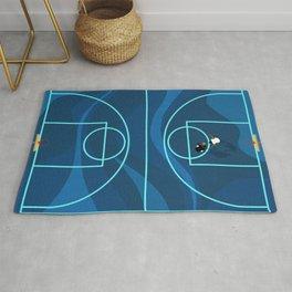 Blue Camouflage Street Basketball Court Rug