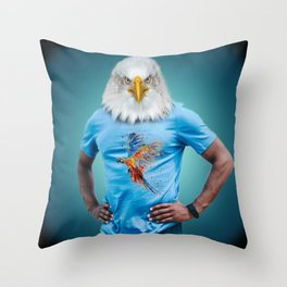 Mister Eagle Throw Pillow