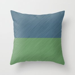 Abstract blue, green art - a simple striped pattern Throw Pillow