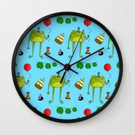 Hoppy Birthday Wall Clock