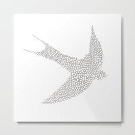 Grey Swallow Metal Print