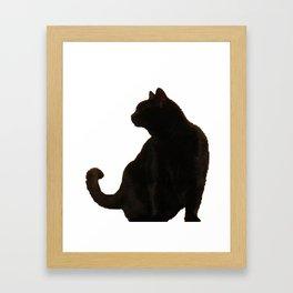 Halloween Black Cat Silhouette  Framed Art Print