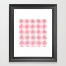 Pink Houndstooth Pattern Framed Art Print