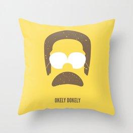 Okely Dokely Throw Pillow