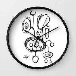 Orbs N Lines - Terrarium Wall Clock