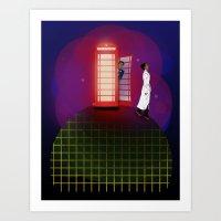 Community Inspector Spacetime  Art Print
