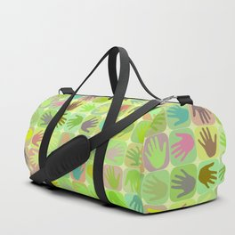 Multicolored hands pattern Duffle Bag