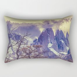 Snowy Andes Mountains, El Chalten, Argentina Rectangular Pillow