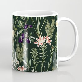 Dark Botanical Garden #society6 #natureart #pattern Coffee Mug