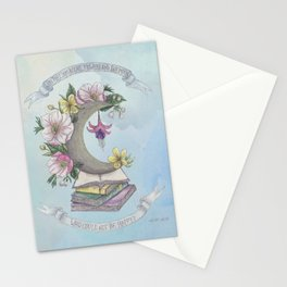Freedom, Books, Flowers and The Moon Stationery Cards