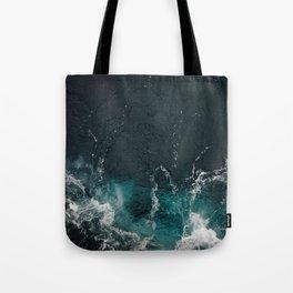 Bluish frothing ocean Tote Bag