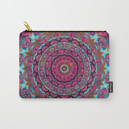 Pink and blue hearts mandala Carry-All Pouch
