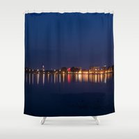 skyline Shower Curtains featuring Skyline by LainPhotography
