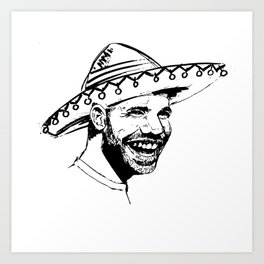 Drake in Sombrero Art Print