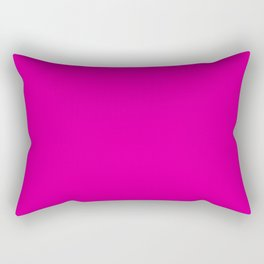 RHODAMINE RED solid color Rectangular Pillow