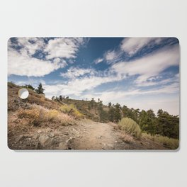 Hiking trail along Pacific Crest Trail in Southern California Cutting Board