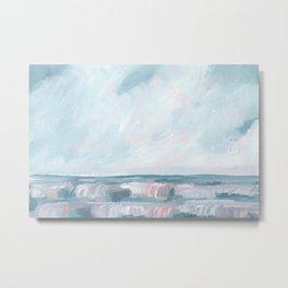 Perseverance - Stormy Sea Seascape Metal Print