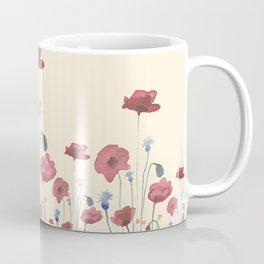 Red & Blue Poppies Coffee Mug
