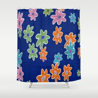 flower pattern Shower Curtains featuring Flower Pattern by Fine2art