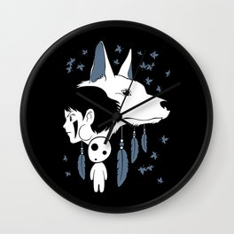 Anime Noke Wolf Wall Clock