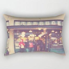 Seattle Starbucks photograph. A Star is Born Rectangular Pillow