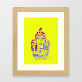 A LARGE BLUE AND WHITE AND IRON-RED DECORATED BALUSTER JAR AND COVER KANGXI PERIOD (1662-1722) Neon Framed Art Print