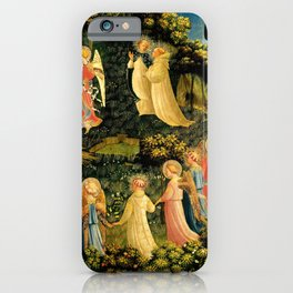 """Fra Angelico (Guido di Pietro) """"The Last Judgement, detail - The dance of the beatified"""" iPhone Case"""