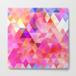 Colorful Triangle Pattern 07 Metal Print