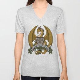 Clan Stonefire Crest - Gold Dragon Unisex V-Neck