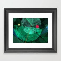 Broken face Framed Art Print