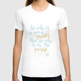 He is in you T-shirt