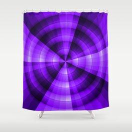 Purple Monochromatic radial design Shower Curtain