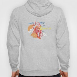 Wake Up Monoline Rooster Graphic Hoody
