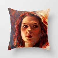 battlefield Throw Pillows featuring Battlefield by Five-Oclock