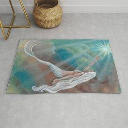 Angelfish Mermaid Fantasy Art by Laurie Leigh Nude Rug