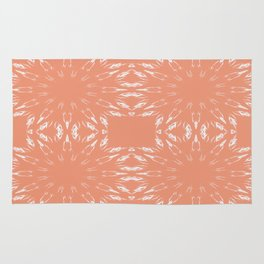 Peach Color Burst Living Coral Rug